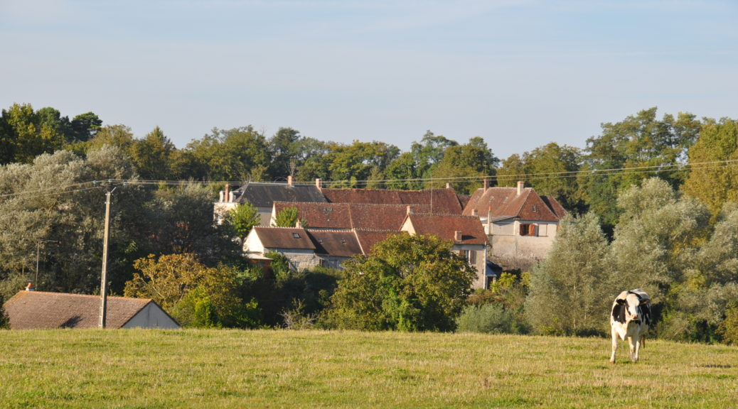 Vue du village de Murs dans l'Indre