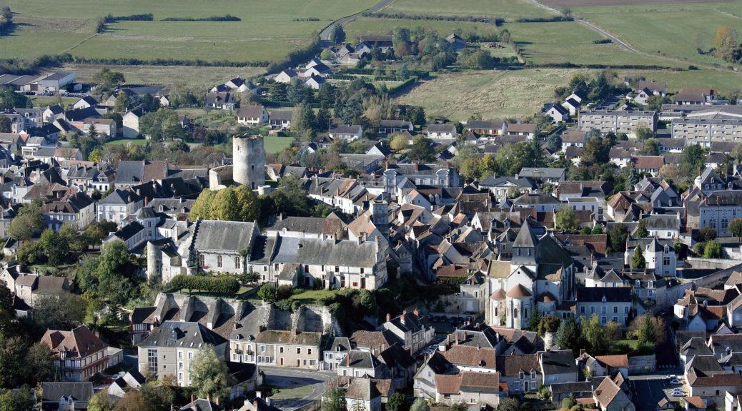 Vue du village de Châtillon-sur-Indre