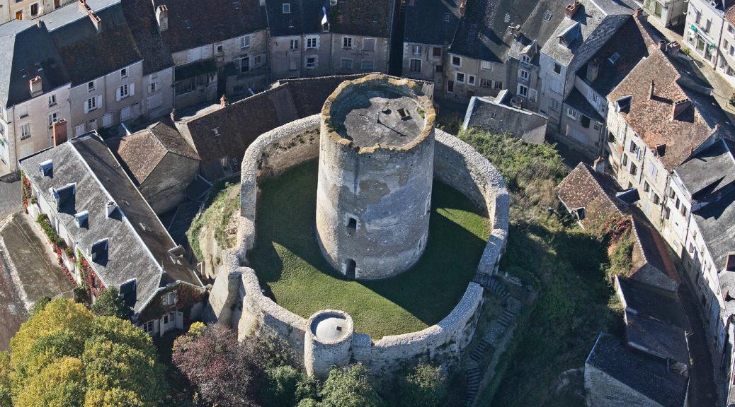Vue du donjon de Châtillon-sur-Indre